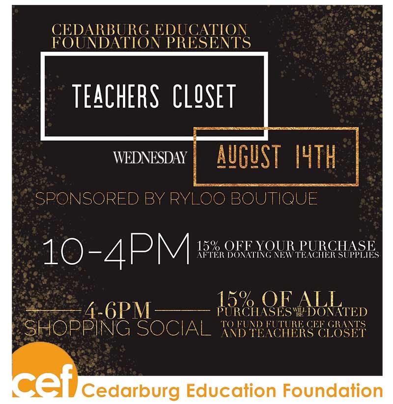 CEF & Ryloo's Teachers Closet Social